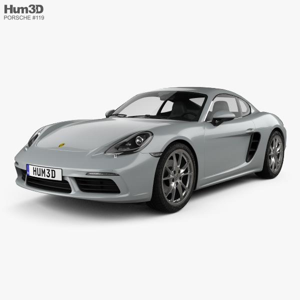 3D model of Porsche Cayman 718 (982C) 2016