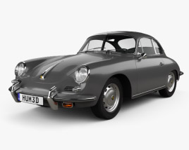 3D model of Porsche 356 SC Coupe 1963