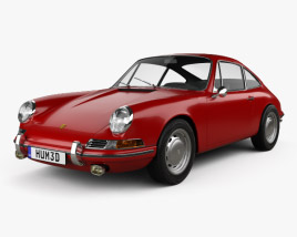 3D model of Porsche 911 Coupe Prototyp (901) 1962