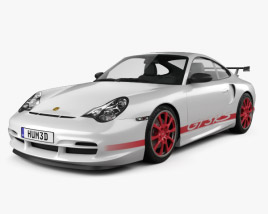 3D model of Porsche 911 GT3RS Coupe (996) 2003