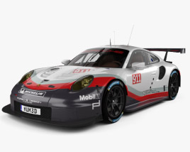 3D model of Porsche 911 Carrera (991) RSR 2017