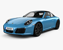 3D model of Porsche 911 Targa (991) 4S 2016