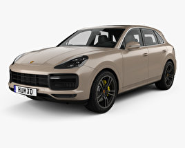 3D model of Porsche Cayenne Turbo 2017