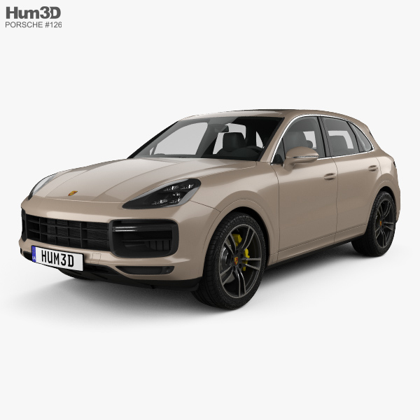 Porsche Cayenne Turbo 2017 3D model