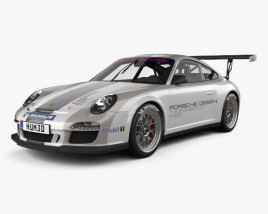 3D model of Porsche 911 Carrera GT3 Cup Car 2010