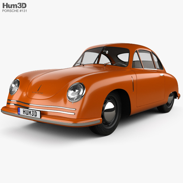 3D model of Porsche 356 coupe with HQ interior 1948