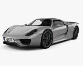 3D model of Porsche 918 spyder with HQ interior 2015