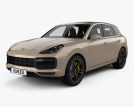 3D model of Porsche Cayenne Turbo with HQ interior 2017