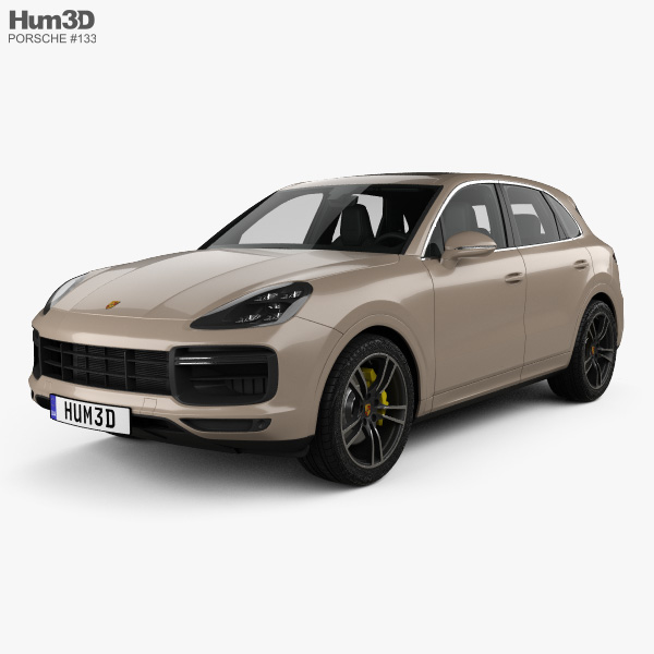 Porsche Cayenne Turbo with HQ interior 2017 3D model
