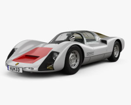 3D model of Porsche 906 Carrera 6 Coupe 1966