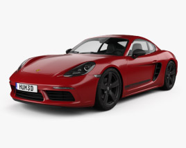 3D model of Porsche Cayman 718 T 2018