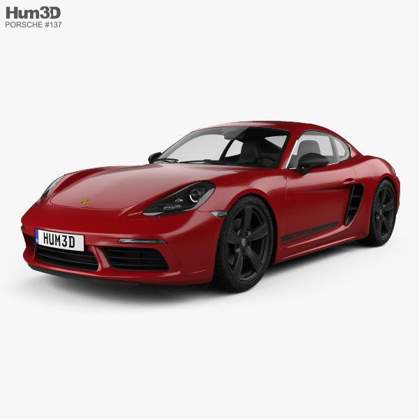 3D model of Porsche Cayman 718 T 2018