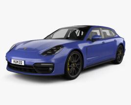 3D model of Porsche Panamera GTS Sport Turismo 2019