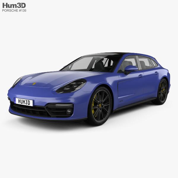 Porsche Panamera GTS Sport Turismo 2019 3D model