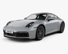 3D model of Porsche 911 Carrera 4S coupe 2019