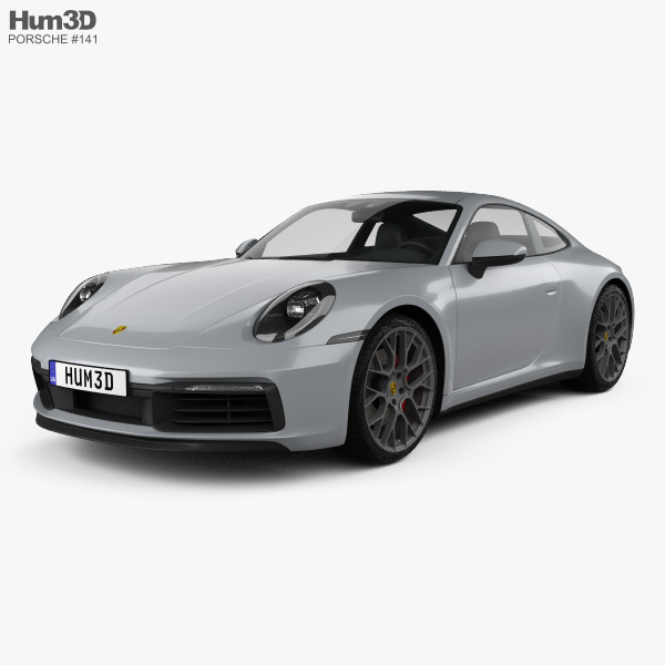 Porsche 911 Carrera 4S coupe 2019 3D model