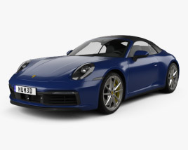 3D model of Porsche 911 Carrera 4S cabriolet 2019