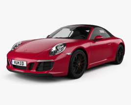 3D model of Porsche 911 Carrera GTS cabriolet 2017