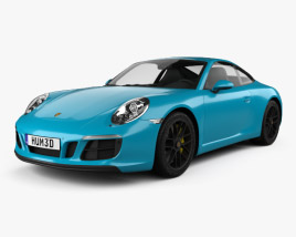 3D model of Porsche 911 Carrera GTS coupe 2017