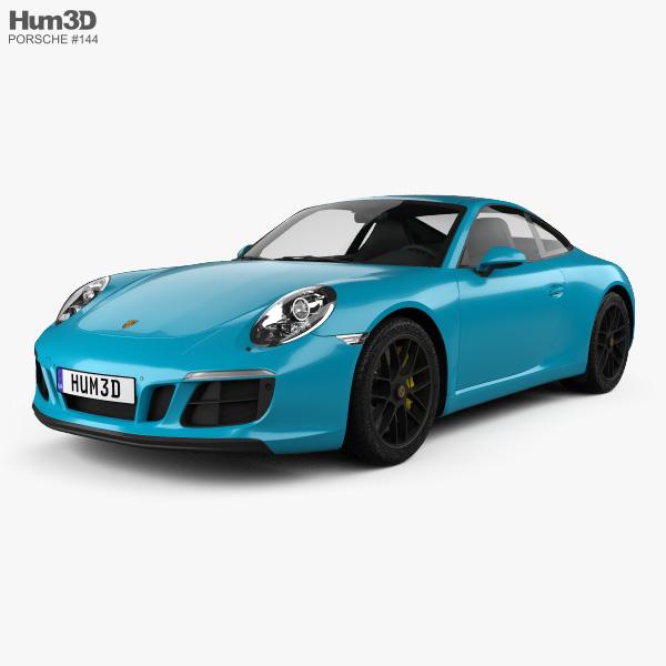 Porsche 911 Carrera GTS coupe 2017 3D model