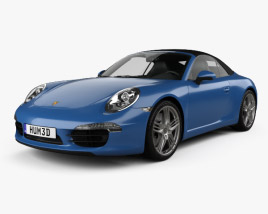 3D model of Porsche 911 Carrera 4 cabriolet 2012