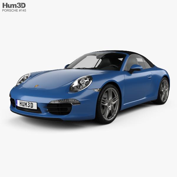 Porsche 911 Carrera 4 cabriolet 2012 3D model