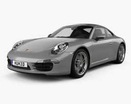 3D model of Porsche 911 Carrera 4 coupe 2012