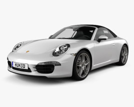 3D model of Porsche 911 Carrera 4 S cabriolet 2012