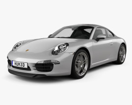 3D model of Porsche 911 Carrera 4 S coupe 2012