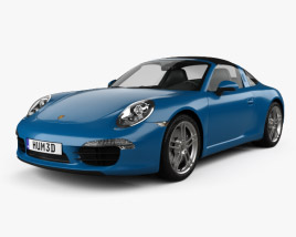 3D model of Porsche 911 Targa 4 2014