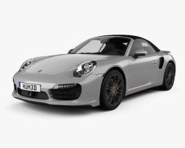 3D model of Porsche 911 Turbo cabriolet 2012