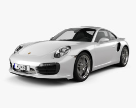 3D model of Porsche 911 Turbo S coupe 2012