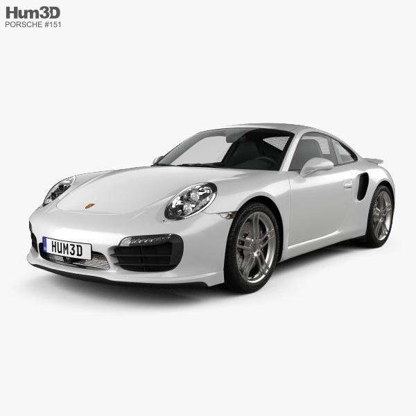 Porsche 911 Turbo S coupe 2012 3D model