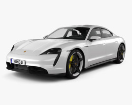 3D model of Porsche Taycan Turbo S 2020