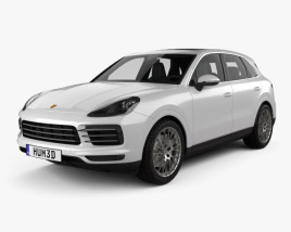 3D model of Porsche Cayenne S with HQ interior 2017