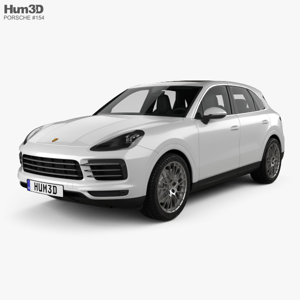 Porsche Cayenne S with HQ interior 2017 3D model