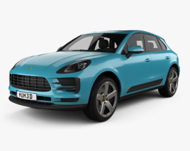 3D model of Porsche Macan S with HQ interior 2018