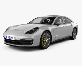 3D model of Porsche Panamera GTS with HQ interior 2019