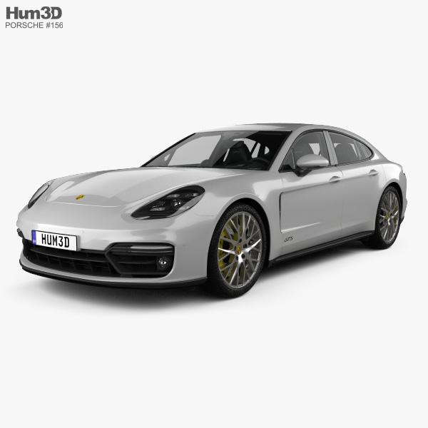 Porsche Panamera GTS with HQ interior 2019 3D model