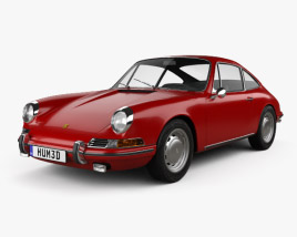 3D model of Porsche 912 coupe 1966