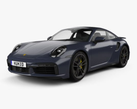 3D model of Porsche 911 Turbo S coupe 2019