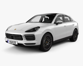 3D model of Porsche Cayenne S coupe 2019