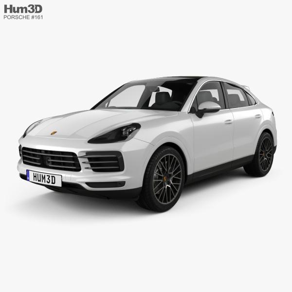 Porsche Cayenne S coupe 2019 3D model
