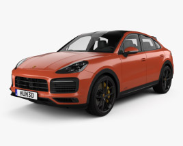 3D model of Porsche Cayenne GTS coupe 2020