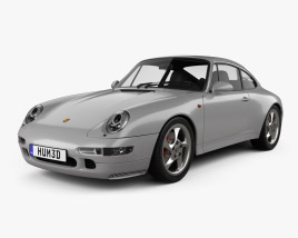 3D model of Porsche 911 Carrera 4S Coupe with HQ interior 1997