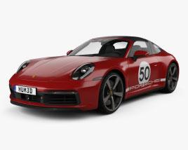 Porsche 911 Targa 4S Heritage 2021 3D model