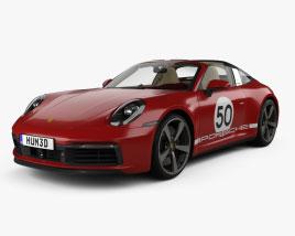 Porsche 911 Targa 4S Heritage with HQ interior 2021 3D model