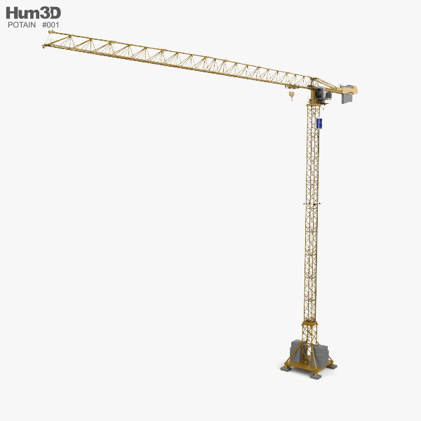 Potain Tower Crane MDT 389 2019 3D model