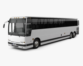 3D model of Prevost X3-45 Commuter Bus 2011