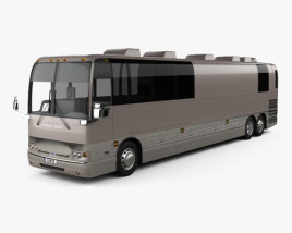3D model of Prevost X3-45 Entertainer Bus 2011